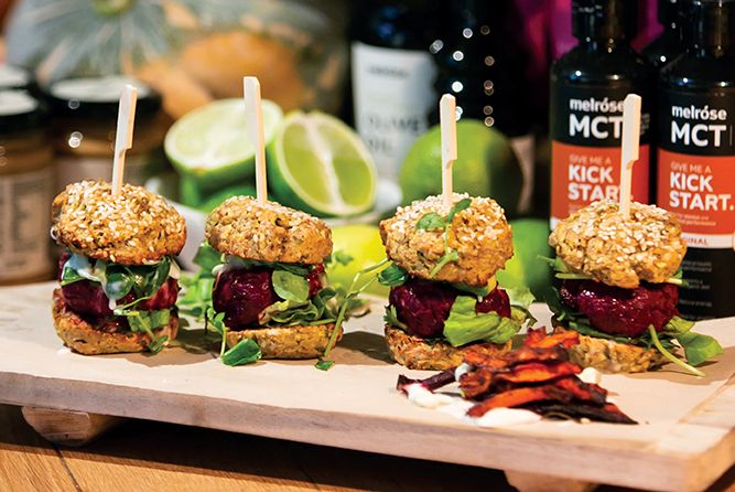 BEEF AND BEETROOT HEALTHY SLIDERS