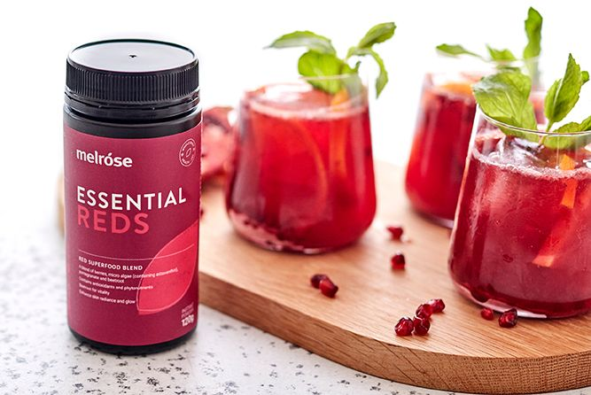 KOMBUCHA MOCKTAIL WITH MELROSE ESSENTIAL REDS